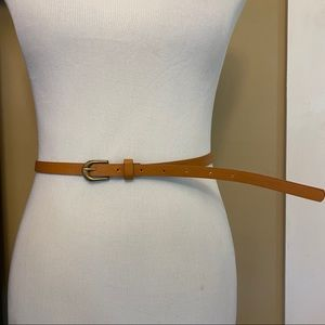 Skinny Brown Leather Belt